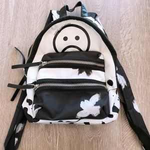 Marc By Marc Jacobs BLK/WHT Floral Mini BackPack